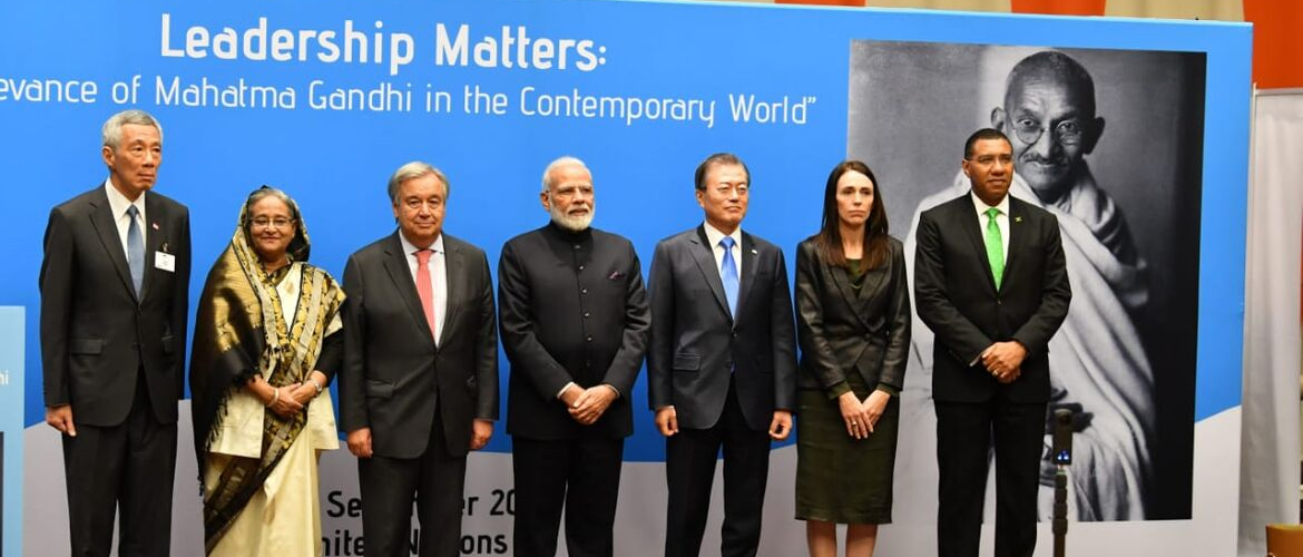 World Leaders Gather to Commemorate the 150th Birth Anniversary of Mahatma Gandhi at the United Nations