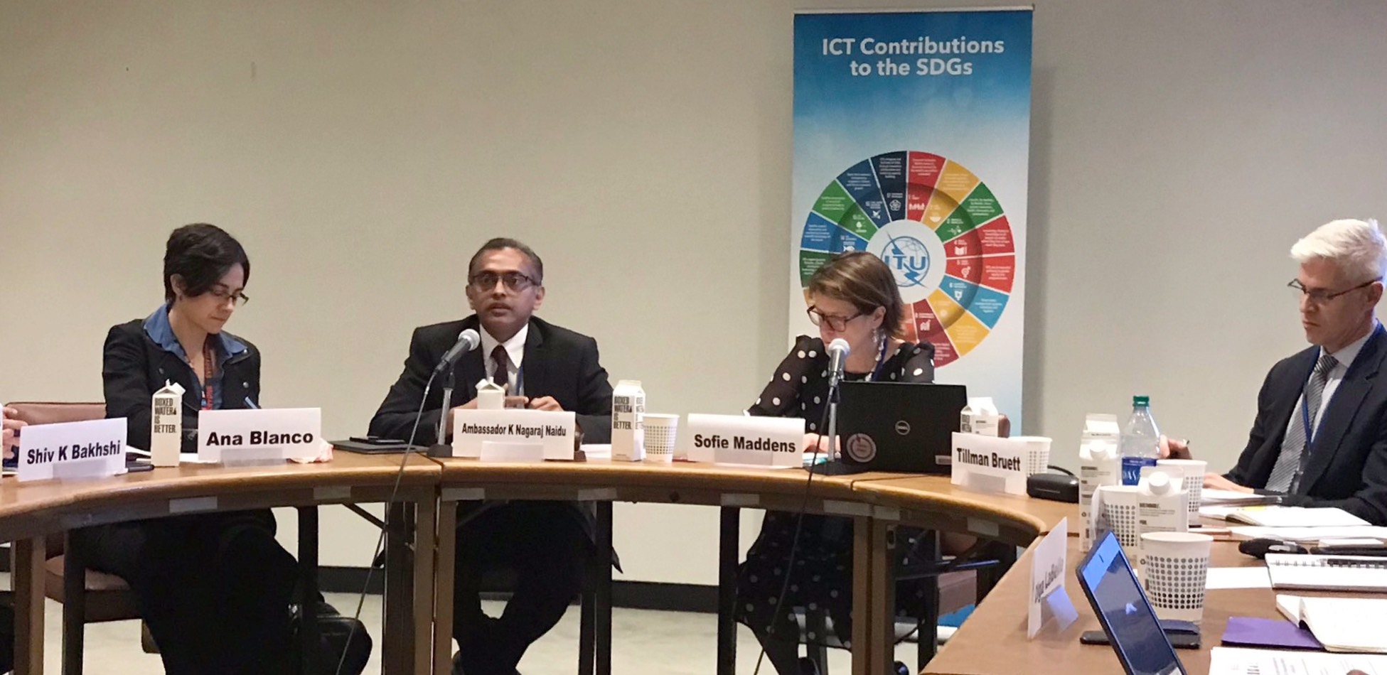 Sharing India's experience on Financial Inclusion at a panel discussion on Leveraging Information and Communication Technologies for achieving Sustainable Development Goals