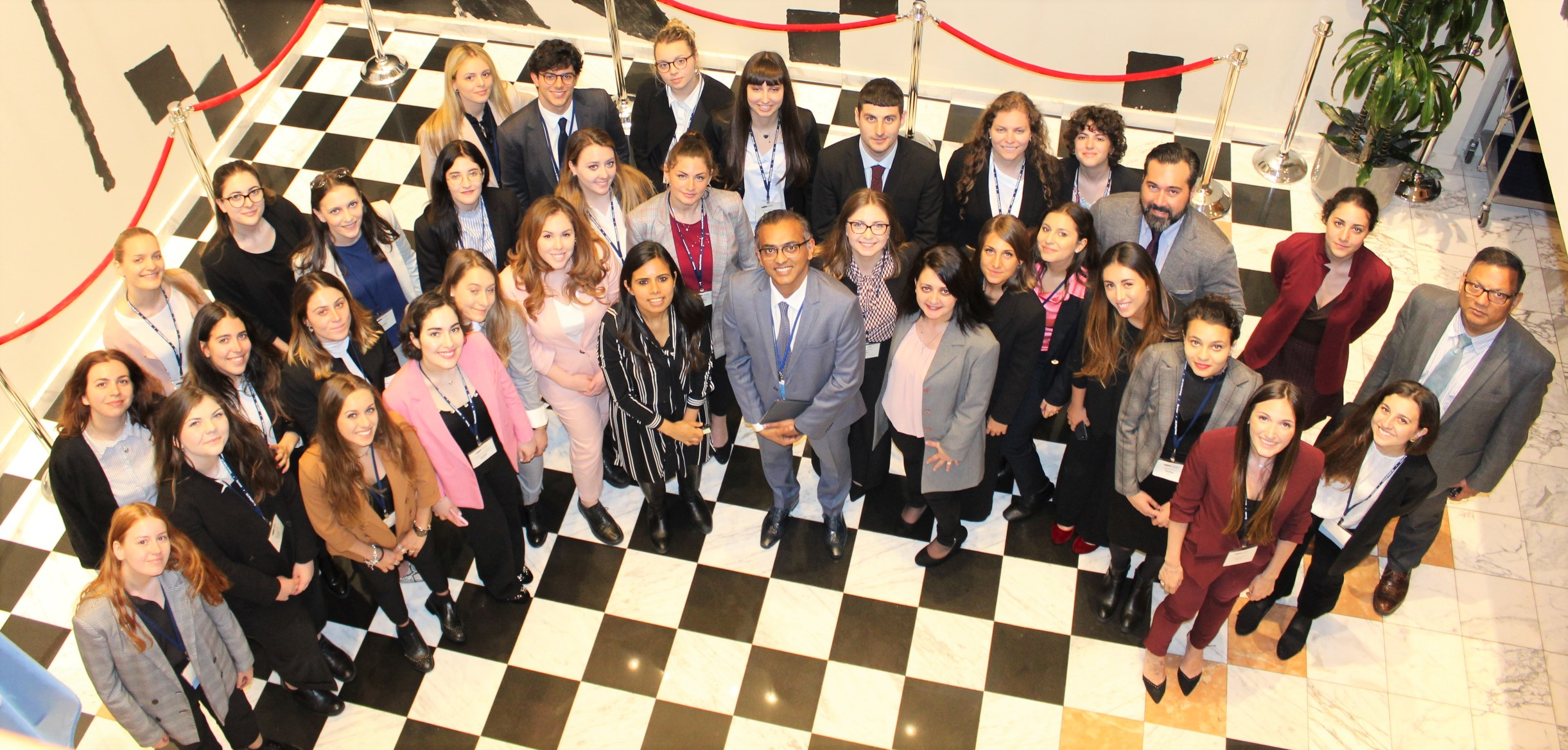 Interaction with a delegation of Italian University Students participating in the National Model United Nations