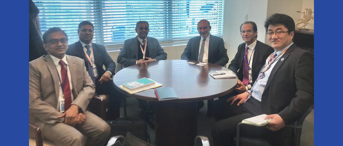 Indian delegation led by Mr. A. Gitesh Sarma, Secretary (West), Ministry of External Affairs meet <br> UN Secretary-General's Special Envoy for the 2019 Climate Action Summit Mr. Luis Alfonso de Alba