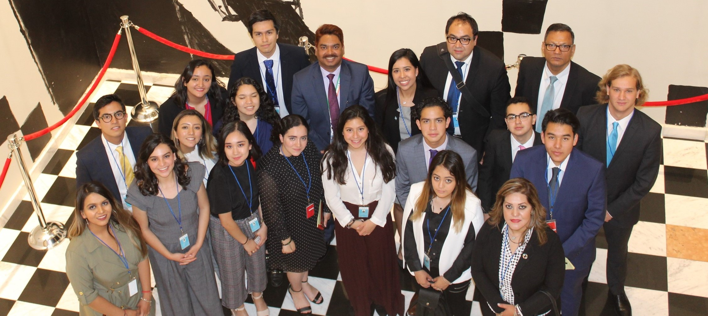 Interaction with students participating in the  New York Model United Nations Conference for <br> Latin America and the Caribbean