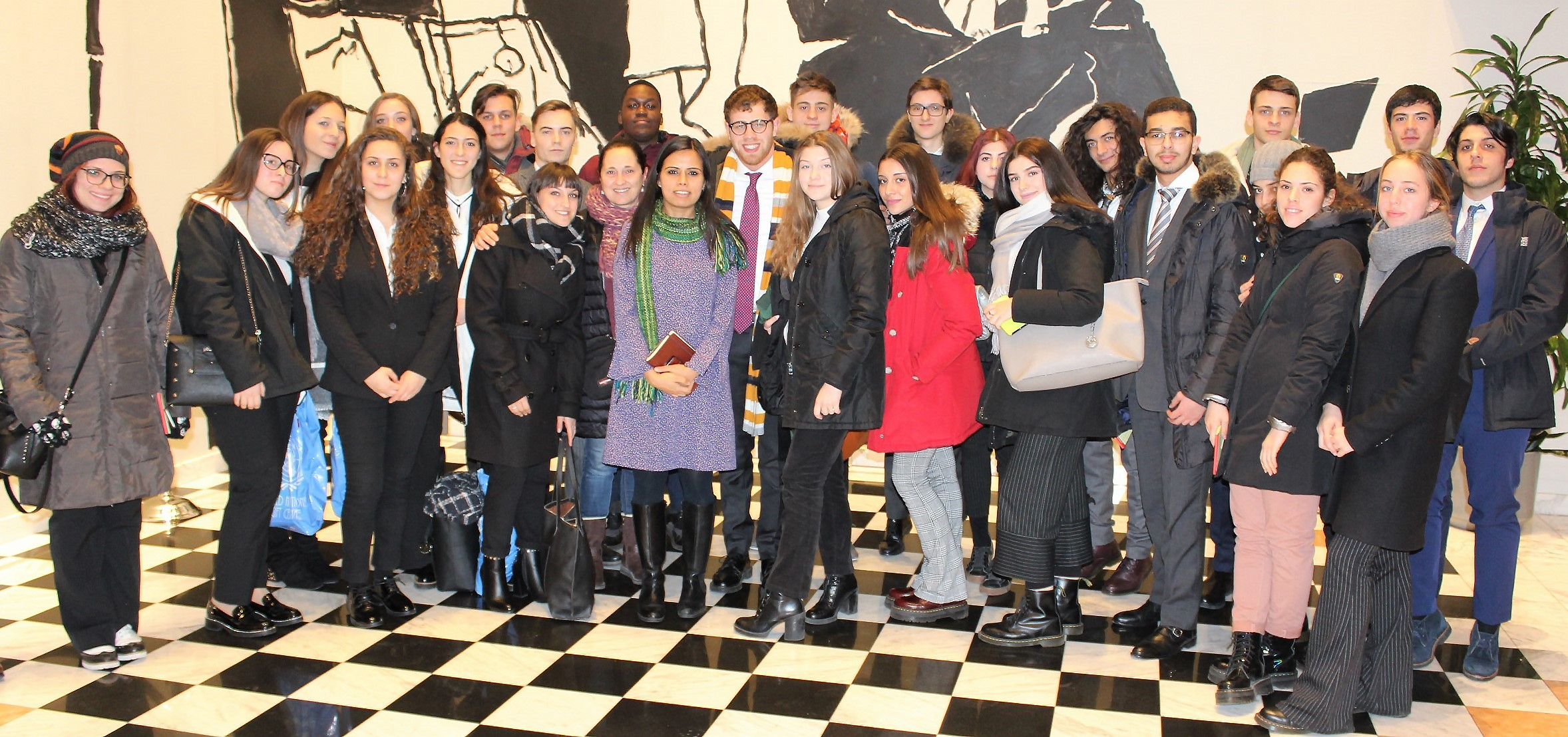 Meeting with Students from The Schools of United Network EU