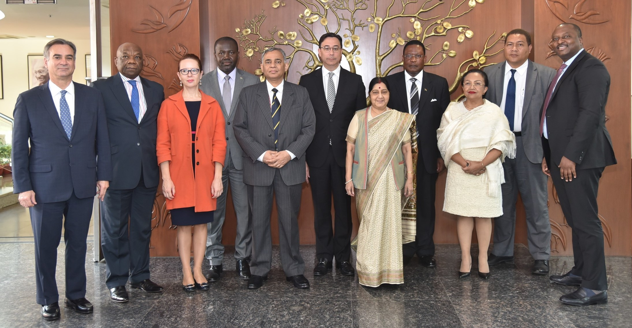 External Affairs Minister meets Group of Permanent Representatives to the United Nations in New Delhi